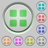 Large grid view push buttons - Set of color Large grid view sunk push buttons.