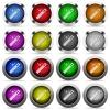 Set of Magic wand glossy web buttons. Arranged layer structure. - Magic wand button set