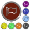 Color flag buttons - Set of glossy coin-like color flag buttons.