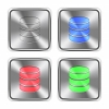 Color database icons engraved in glossy steel push buttons. - Color database steel buttons