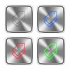Color tags icons engraved in glossy steel push buttons. - Color tags steel buttons