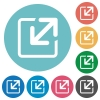 Flat resize icons - Flat resize icon set on round color background.