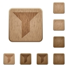 Filter wooden buttons - Set of carved wooden filter buttons in 8 variations.