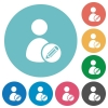 Flat Edit user profile icon set on round color background. - Flat Edit user profile icons