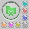 Folder cancel push buttons - Set of color Folder cancel sunk push buttons.