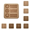 Radio group wooden buttons - Set of carved wooden Radio group buttons in 8 variations.