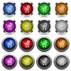 Checkout button set - Set of Checkout glossy web buttons. Arranged layer structure.
