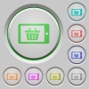 Mobile shopping push buttons - Set of color Mobile shopping sunk push buttons.