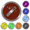 Set of color glossy coin-like magic wand buttons. - Color magic wand buttons