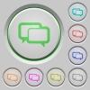Chat bubbles push buttons - Set of color Chat bubbles sunk push buttons.
