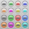 Cloud plastic sunk buttons - Set of cloud plastic sunk spherical buttons.