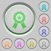 Award push buttons - Set of color award sunk push buttons.