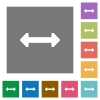 Resize horizontal square flat icons - Resize horizontal flat icon set on color square background.