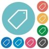 Flat tag icons - Flat tag icon set on round color background.
