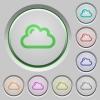 Cloud push buttons - Set of color cloud sunk push buttons.