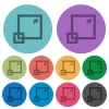 Color maximize window flat icons - Color maximize window flat icon set on round background.