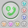 Money call push buttons - Set of color Money call sunk push buttons.