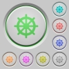 Steering wheel push buttons - Set of color Steering wheel sunk push buttons.