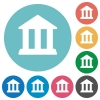 Flat bank icons - Flat bank icon set on round color background.