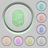 Fingerprint push buttons - Set of color fingerprint sunk push buttons.