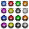 Camera button set - Set of camera glossy web buttons. Arranged layer structure.