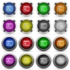 Linux root terminal button set - Set of linux root terminal glossy web buttons. Arranged layer structure.