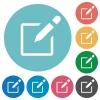 Flat editbox icons - Flat editbox icon set on round color background.