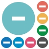 Flat delete icons - Flat delete icon set on round color background.
