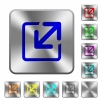 Steel resize window buttons - Engraved resize window icons on rounded square steel buttons