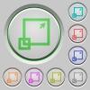 Maximize window push buttons - Set of color Maximize window sunk push buttons.
