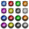 Map location button set - Set of map location glossy web buttons. Arranged layer structure.
