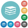Flat books icons - Flat books icon set on round color background.