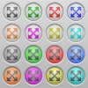 Resize full alt plastic sunk buttons - Set of Resize full alt plastic sunk spherical buttons.