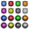 Linux terminal button set - Set of linux terminal glossy web buttons. Arranged layer structure.