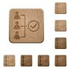 Successful teamwork wooden buttons - Set of carved wooden Successful teamwork buttons in 8 variations.