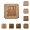 Micro SD card wooden buttons - Set of carved wooden Micro SD memory card buttons in 8 variations.