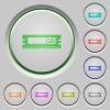 RAM module push buttons - Set of color RAM module sunk push buttons.