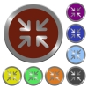 Color minimize buttons - Set of color glossy coin-like minimize buttons.