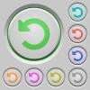 Undo changes push buttons - Set of color undo changes sunk push buttons.