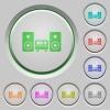 Hifi push buttons - Set of color hifi sunk push buttons.