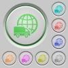 International transport push buttons - Set of color International transport sunk push buttons.