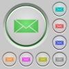 Envelope push buttons - Set of color envelope sunk push buttons.