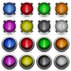 Thermometer button set - Set of thermometer glossy web buttons. Arranged layer structure.