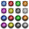 Set of web hosting glossy web buttons. Arranged layer structure. - Web hosting button set