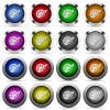 Paint button set - Set of paint glossy web buttons. Arranged layer structure.