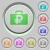 Ruble bag push buttons - Set of color ruble bag sunk push buttons.