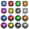 Active firewall button set - Set of Active firewall glossy web buttons. Arranged layer structure.