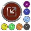 Color resize element buttons - Set of color glossy coin-like resize element buttons.