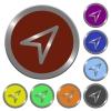 Color direction arrow buttons - Set of color glossy coin-like direction arrow buttons.