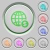 Online payment push buttons - Set of color Online payment sunk push buttons.
